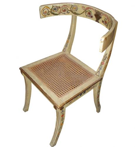 A Set of Eight 18th Century Italian Polychrome Klismos Chairs No. 1436