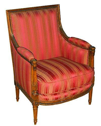 An 18th Century French Directoire Walnut Bergere No. 972