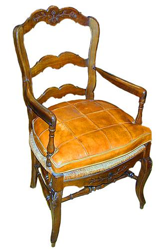 A 19th Century French Louis-Philippe Elm Armchair No. 850
