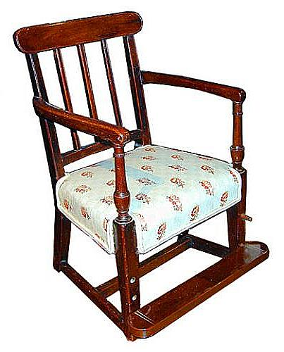 An 18th Century English George III Sheraton Mahogany Child's Armchair No. 580