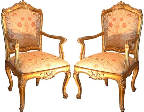An 18th Century Pair of Louis XV Venetian Fauteuils No. 2578