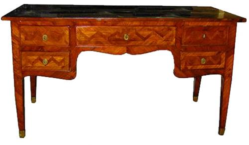 An Exquisite 18th Century Chevron Marquetry Rosewood Writing Table No. 2107