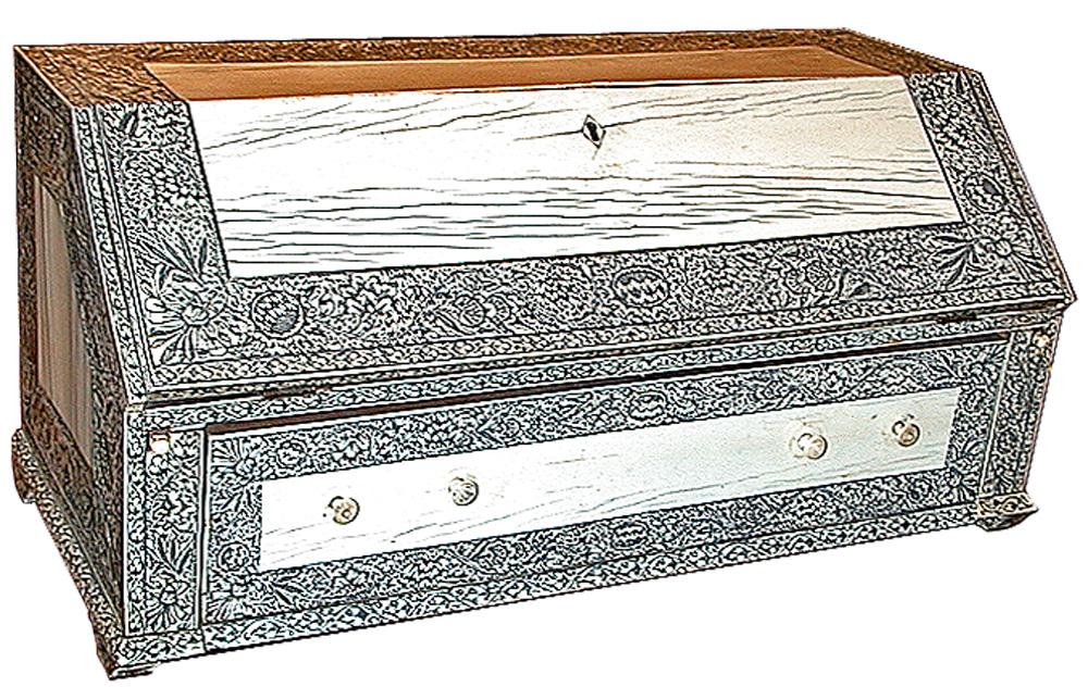 A 19th Century English Anglo-Indian Bone Miniature Desk No. 416