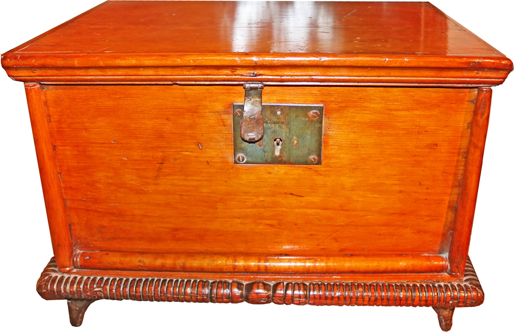 A 19th Century American Cherry Wood Bible Box No. 422