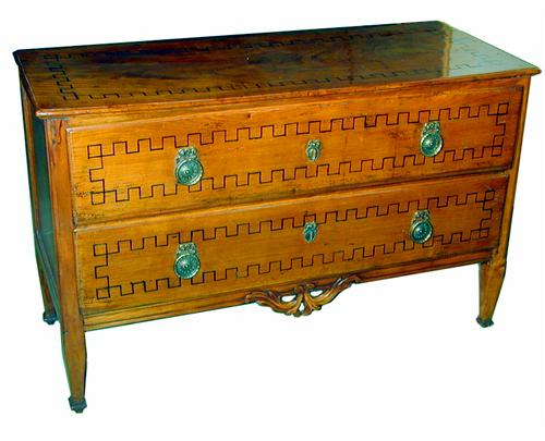 A Fine 18th Century Italian Louis XVI Two Drawer Commode No. 1258