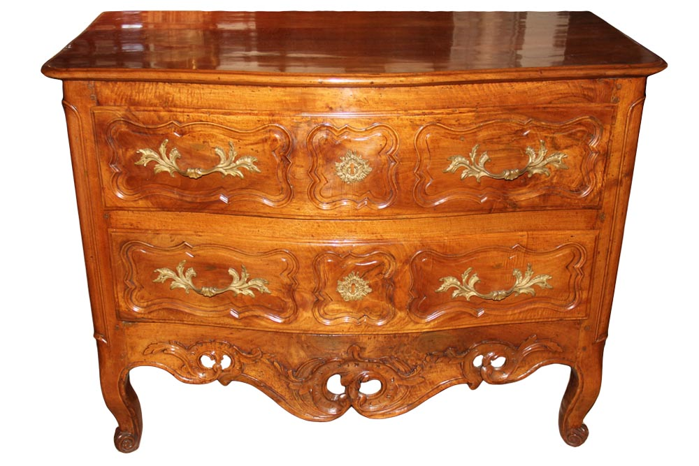 An 18th Century French Louis XV Walnut Two Drawer Commode No. 1084