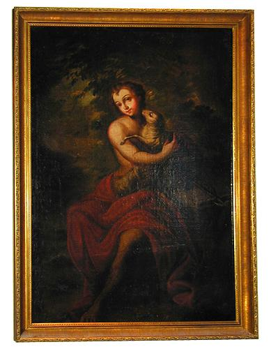 An 18th Century Italian Painting of St. John the Baptist No. 1817