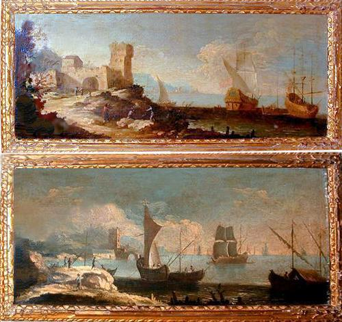 A Pair of 18th Century Italian Oil on Canvas Paintings No. 2641