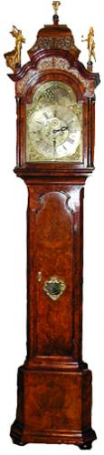 An 18th Century Dutch Burl-Walnut Long Case Clock No. 1533