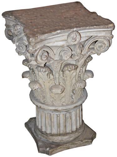 An Impressive 18th Century Roman Corinthian Marble Capital 1026