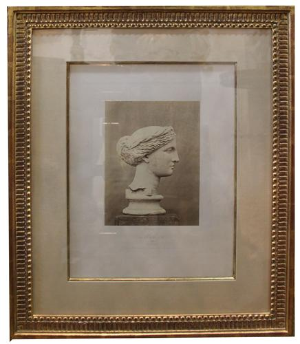A 19th Century Italian Lithograph: Bust of Muse No. 1495