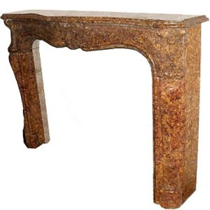 "An Italian ""Brocatello Di Spagna"" Carved Marble Mantel Surround No. 1466"