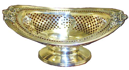 A Fine 19th Century American Sterling Footed Dish No. 1453