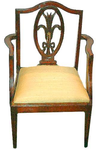 A Late 18th Century Hepplewhite Mahogany Child's Chair No. 2390