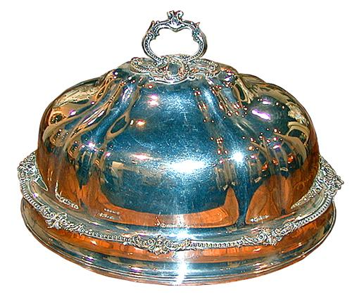 A 19th Century English Oval Silver-Plated Meat Dish Cover No. 1114