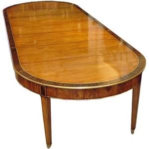 An Italian Louis XVI Mahogany and Rosewood Dining Table No. 2842
