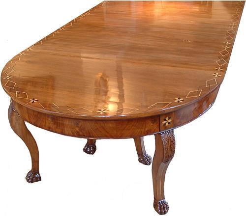 A 19th Century Italian Walnut Parquetry Dining Table No. 2893
