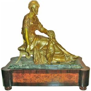A 19th Century French Empire Bronze Doré Sculpture 2857