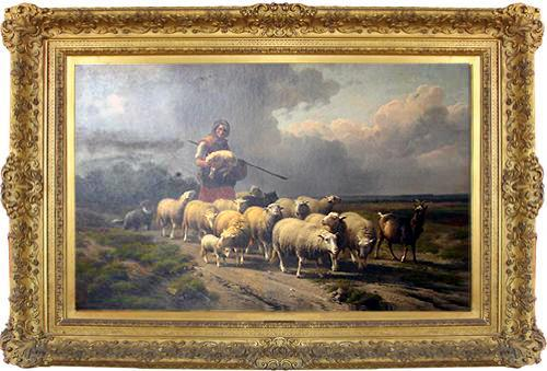 A Mid 19th Century Belgian Oil on Panel by Eugene Joseph Verboeckhoven No. 2914