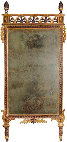 A Dramatic 18th Century Luccan Polychrome and Parcel-Gilt Pier Mirror No. 2962