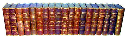 The American Encyclopedia in 19 Leather Bound Volumes No. 2251