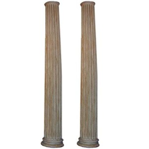 A Pair of Fluted Pine Columns No. 823