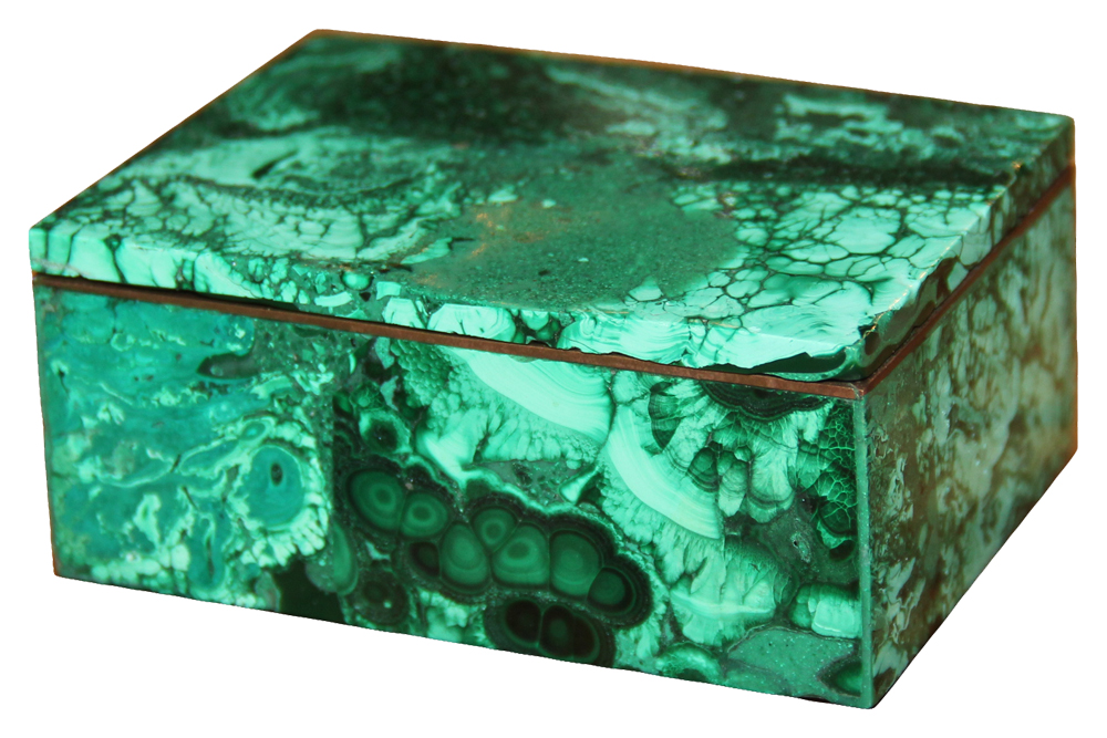 A Russian Malachite Box No. 1950