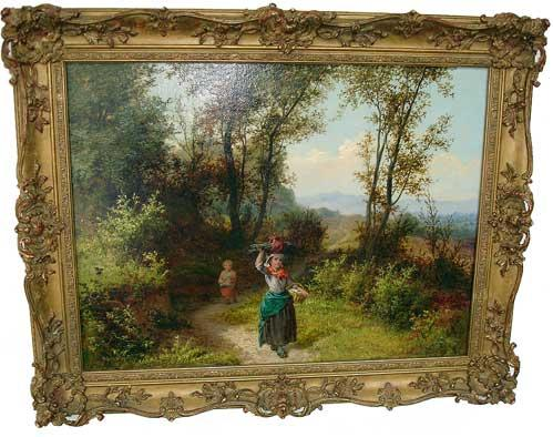A 19th Century Italian Oil on Canvas of a young woman No. 2932