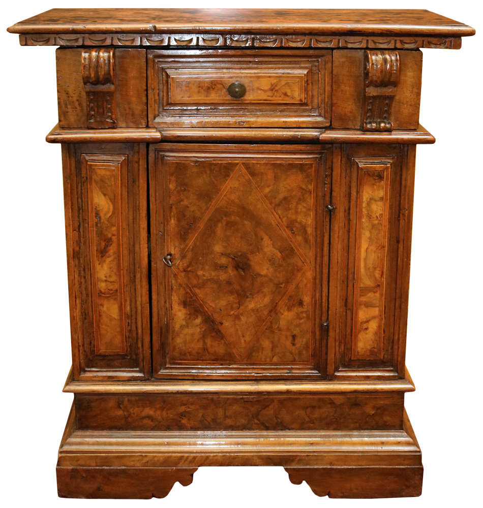 An 18th Century Italian Baroque Walnut Credenzina No. 1973