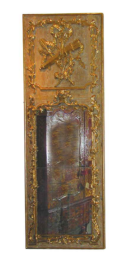 An 18th Century French Louis XV Trumeau Mirror No. 1997
