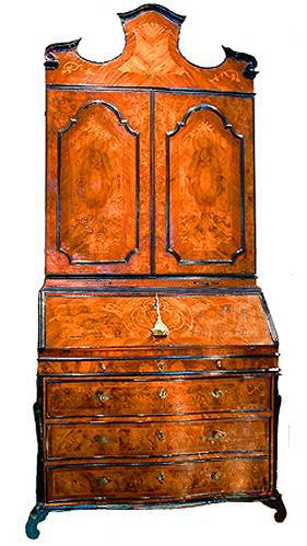 A Stately 18th Century Lombardy Olivewood Secretaire No. 2429