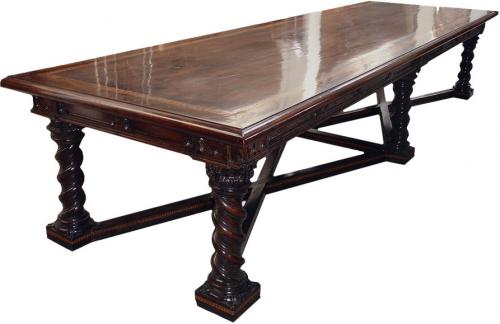 A 17th Century Italian Marquetry Inlay Table Of Immense Proportions No. 3102