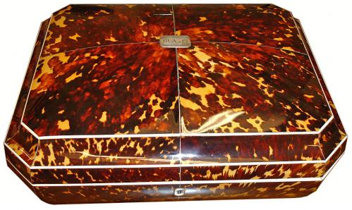 A Unique 19th Century English Tortoiseshell Sewing Box No. 3126