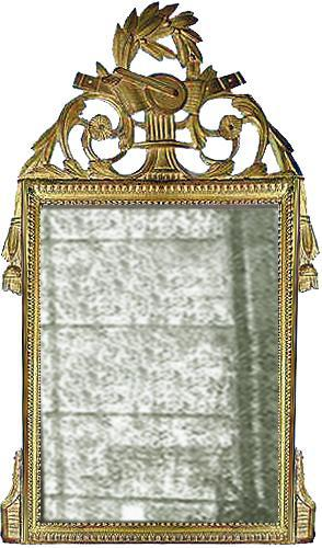 A French Giltwood Transitional Louis XV to Louis XVI Mirror No. 3116