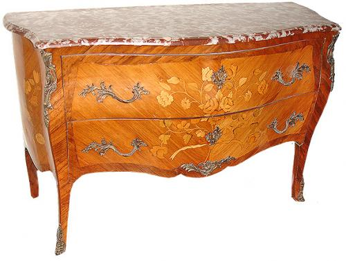 A 19th Century French Meuble de Style Two Drawer Marquetry Commode No. 2739