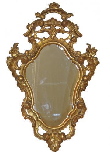 A 19th Century Italian Meuble de Style Rococo Giltwood Mirror No. 3180