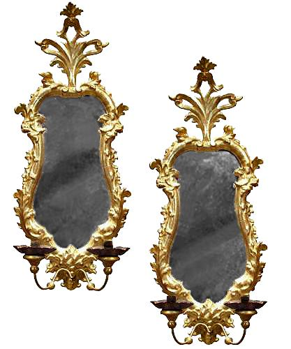 A Pair of 18th Century Giltwood Florentine Mirrors No. 3221