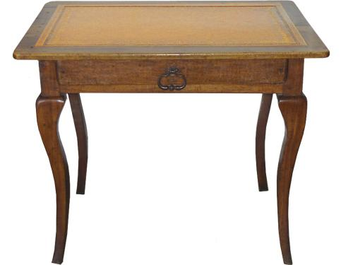 An 18th Century Rusticated French Walnut Writing Table with Embossed Leather Top No. 3257