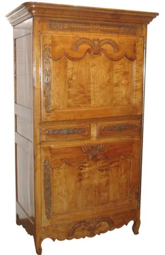A 19th Century French Provincial Cherrywood Bonnetiere No. 3280
