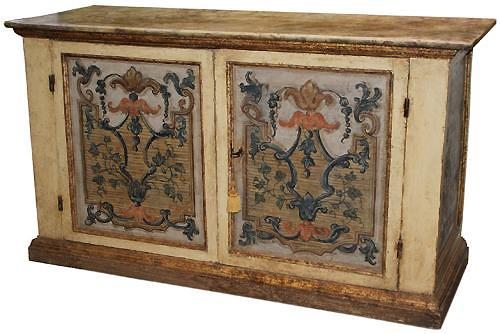 An Early 18th Century Genoese Credenza in Original Polychrome No. 1927