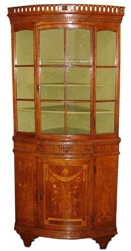 An 18th Century Italian Ashwood Corner Cabinet No. 3360