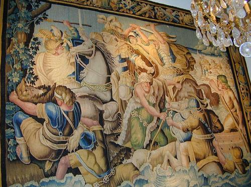 """A Glorious 17th Century Aubusson Tapestry of """"Alexander Crossing the Granicus"""" (334 B.C.) No. 2146"""