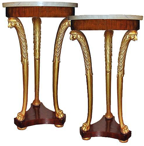 A Pair of 18th Century Marble-Topped Gueridons No. 3424