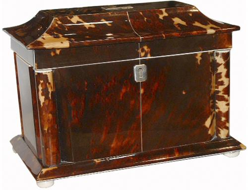 A Stately Regency Neoclassical Tea Caddy No. 2529