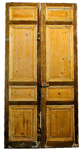 A Pair of 19th Century French Entry Doors No. 1030