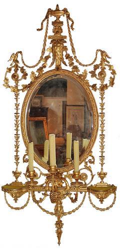 A 19th Century Italian Giltwood Girandole Mirror No. 3479