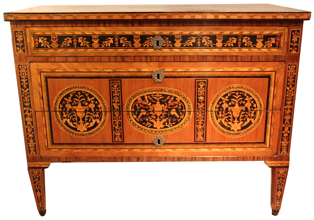 An Important 18th Century Italian Maggiolini Marquetry Commode No. 2536