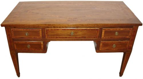 An 18th Century Italian Louis XVI Parquetry Walnut Desk No. 3532