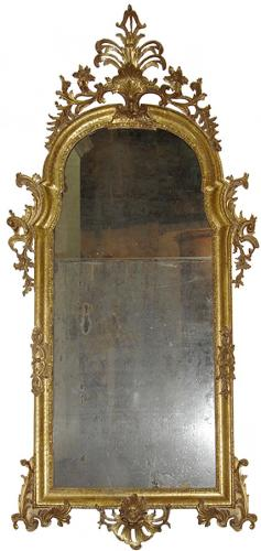 An 18th Century Florentine Giltwood Pier Mirror No. 3562