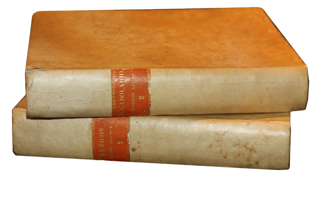 A Set of Two 19th Century Italian-Latin Dictionaries No. 2680